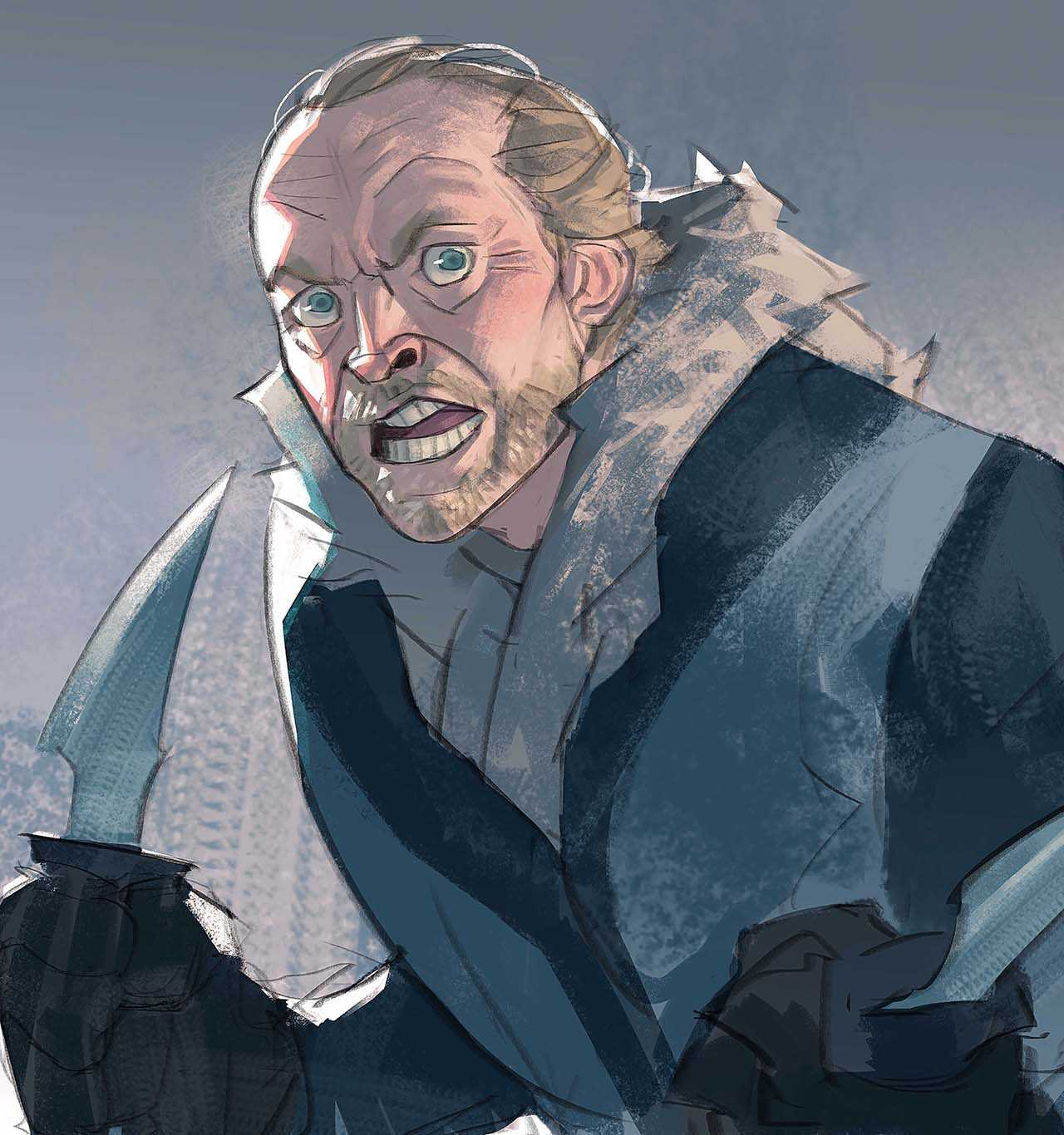 Artist Creates Unique Character Arts From Game Of Thrones – Jorah Mormont Character Art By Ramón Nuñez