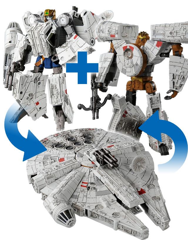 《星際大戰:變形金剛之力》第二彈:千年鷹號 スターウォーズ パワード・バイ・トランスフォーマー 02 ミレニアム・ファルコン