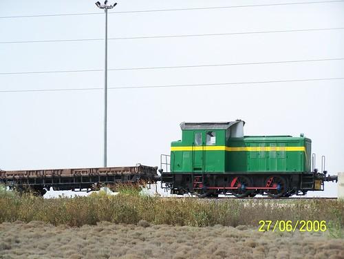 loco tracteur RENFE dans le secteur de Calatorao au nord de l'Espagne.
