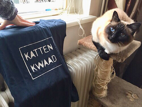 cat t-shirt dweezilsfriend birman poezeboot fair trade lillepoes