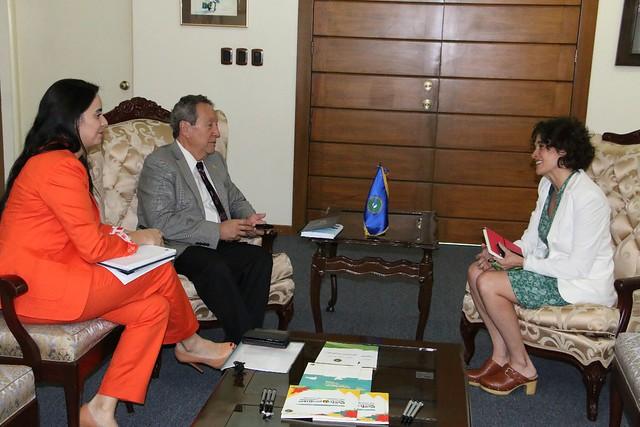 Secretario General del SICA, Vinicio Cerezo sostiene reunión con Olga Pozo, nueva Asesora Principal del Fondo España SICA