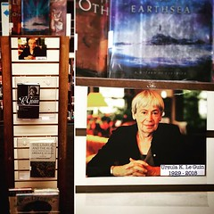 Ursula K. Le Guin ? 1929-2018 Display by Erin and Buffy.