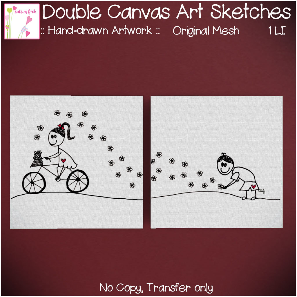 ::cute as f*ck:: Double Canvas Art Sketches - TeleportHub.com Live!