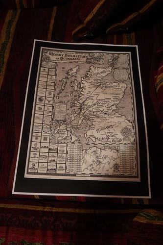 Karte Schottische Whisky Destillerien