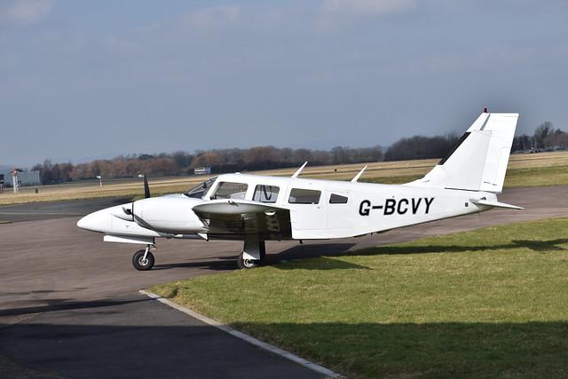 G-BSVY PA-34 Seneca Staverton Friday 23rd February 2018.
