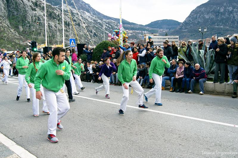 Капоэйра на Зимнем карнавале Котора