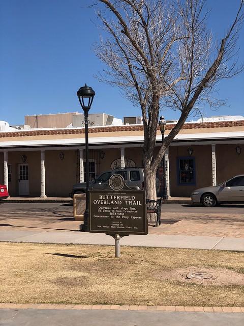 Las Cruces - La Mesilla Overland Trail sign