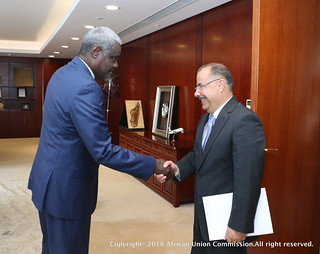 Presentation of credentials of H.E. Ambassador Dr. Wasfi Ayyad, new Ambassador of the Hashemite Kingdom of Jordan to Ethiopia.09/01/2018
