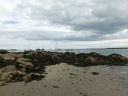 Rocks and boats