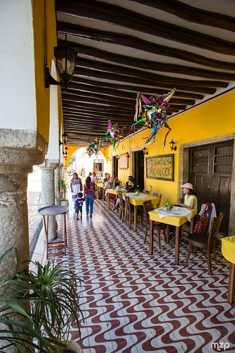 Colourful restaurant in Valladolid.