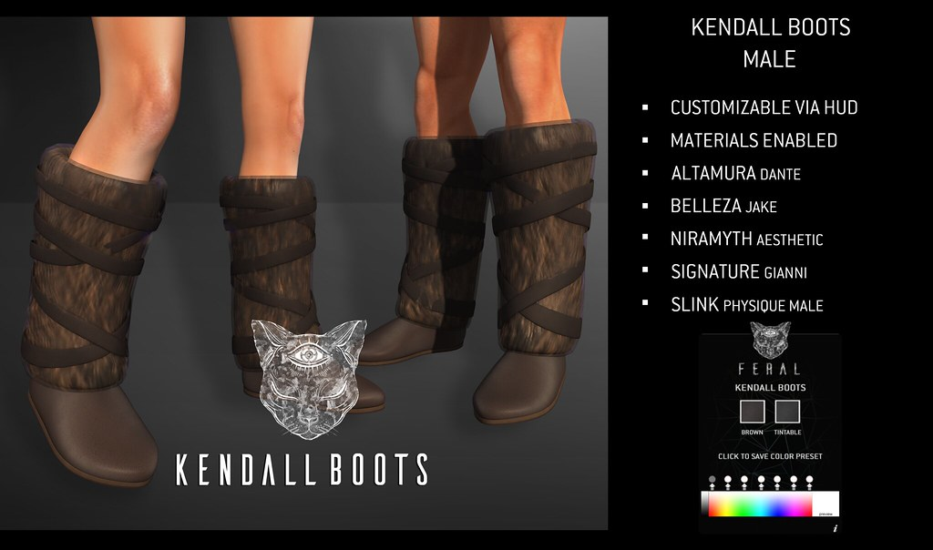 Feral - Kendall Boots [Male] - TeleportHub.com Live!