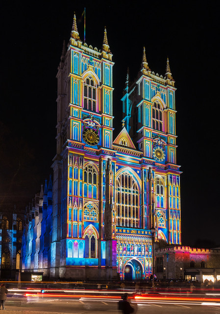 Lumiere London 2018   Westminster Abbey