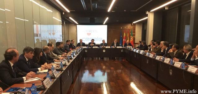 Primera reunión del Consejo Empresarial Ibérico en Valladolid.