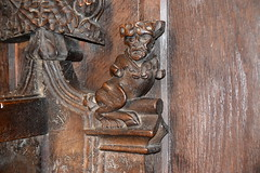 bench end: bull with a man's head (15th Century)