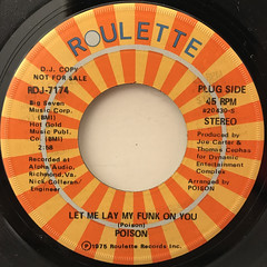 POISON:LET ME LAY MY FUNK ON YOU(LABEL SIDE-A)