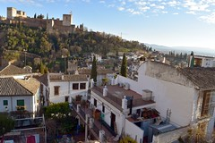 Alhambra and Granada view