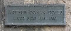 Photo of Arthur Conan Doyle bronze plaque
