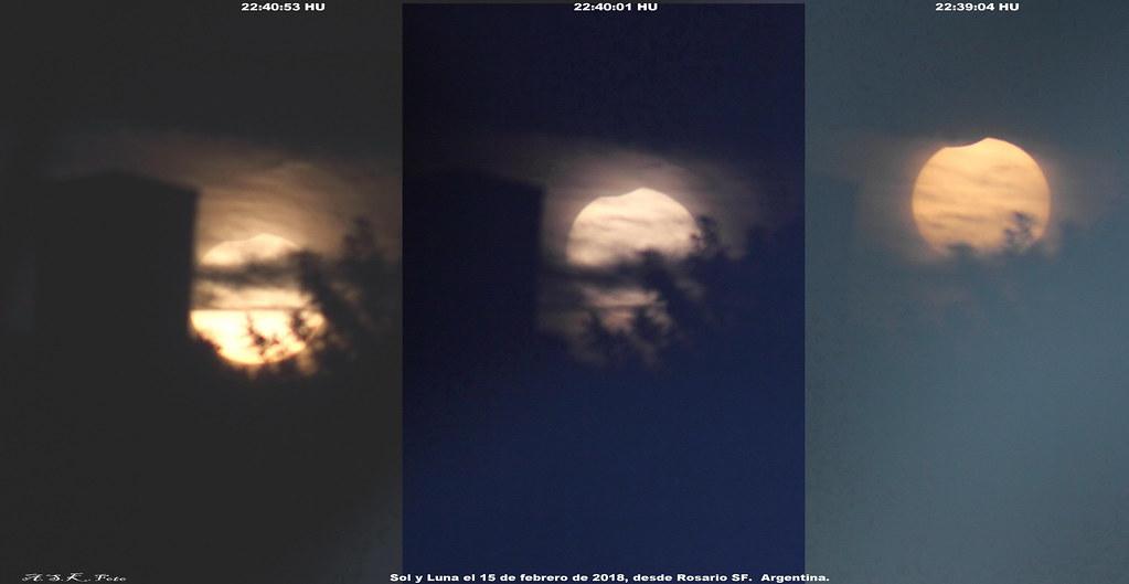 Eclipse parcial de sol, Argentina, 15 de febrero de 2018.