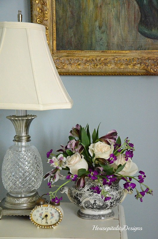 Roses and Purple arrangement-Housepitality Designs