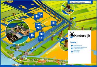 Mappa di Kinderdijk