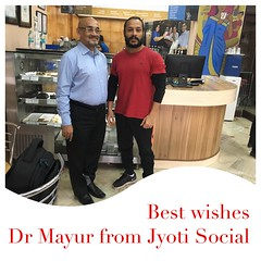 Honor to meet in person, Dr Mayur Jitsingh