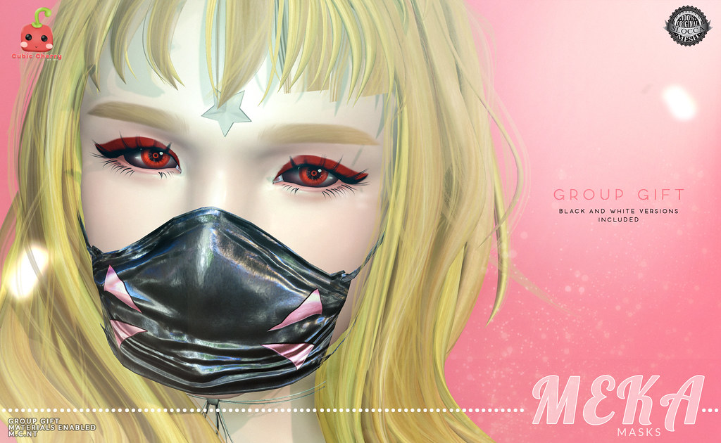 {MEKA} masks – GROUP GIFT [Cubic Cherry]