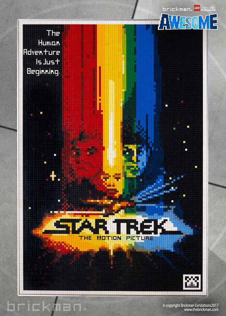 LEGO® brick Star Trek the Motion Picture movie poster