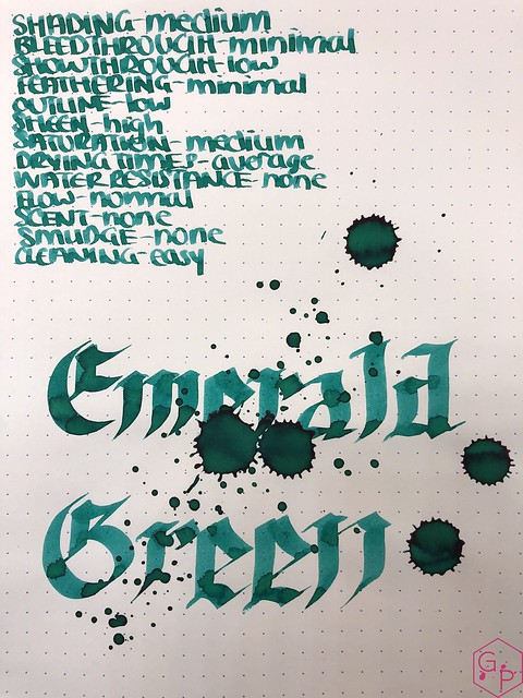 Ink Shot Review Monteverde Emerald Green @MonteverdePens @KnightsWritingC 9