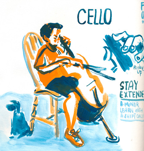 Sketchbook #111: Cello Practice