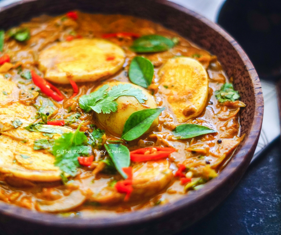 Egg curry Kerala style served with chapati