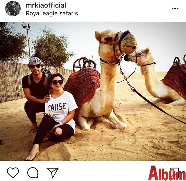 Taplux Organizasyon firmasının sahibi Kianoosh Bagherpoor ve Elham Esmaeili, Dubai'de muhteşem bir tatil geçirdi.