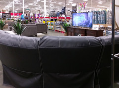 Have a seat, and watch the big screen at Southaven Sam's Club!