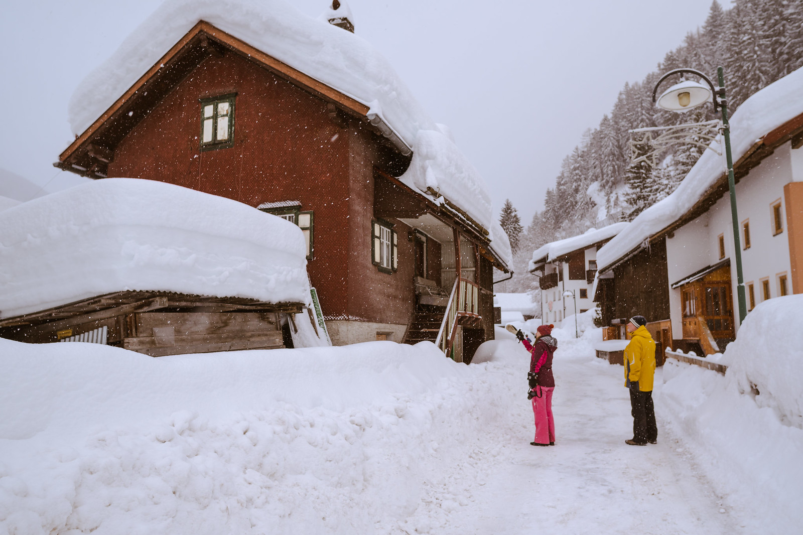 Lunta riitti liiaksikin