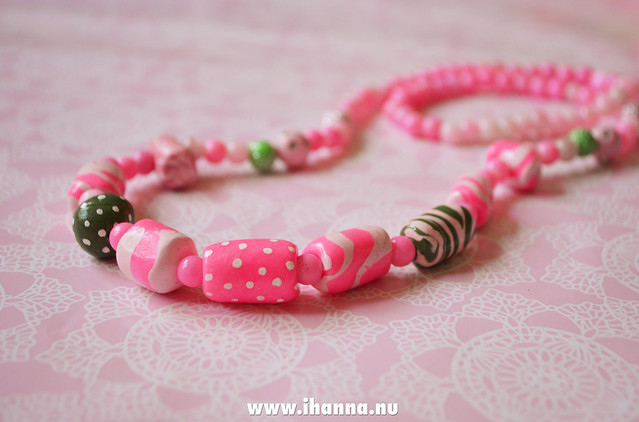 Kawaii Clay Bead Necklace made by iHanna