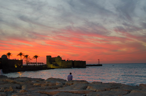 lebanon saida seacastle sunset yr2