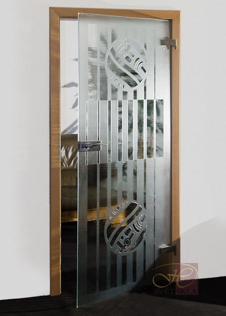 repulsus skleněné dveře