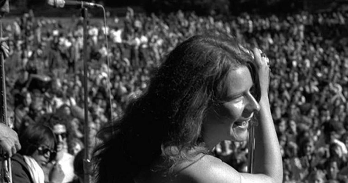 Janis Joplin performing at Woodstock, August 1969.