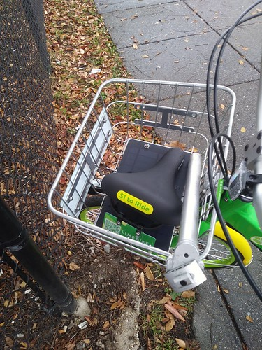 Broken seat, LimeBike dockless bicycle share