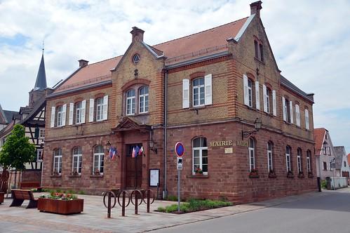 Gemeindehaus  von Schleithal ( Elsass )