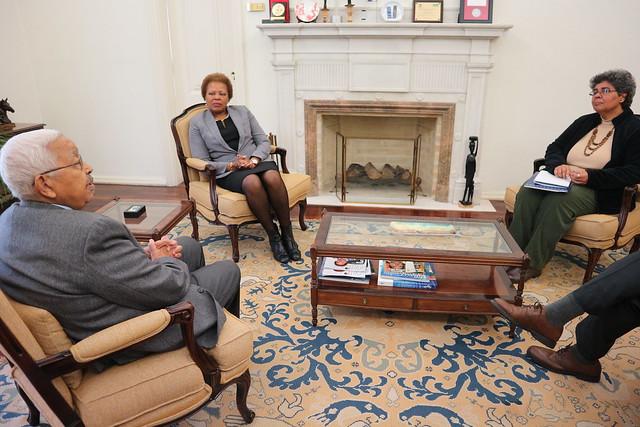 18.03. Secretária Executiva recebe antigo Presidente da República de Cabo Verde