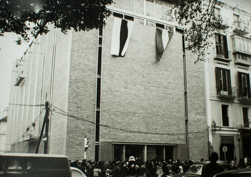 25 de marzo de 1965 - Día de la inauguración [1] - Banderas, capas blancas, júbilo carmelitano, fervor popular. Es el día de la inauguración.