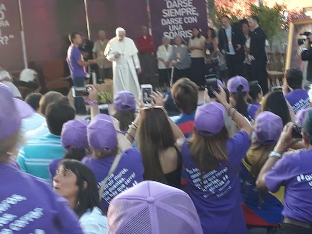 Encuentro del Papa Francisco con el Cristo Pobre