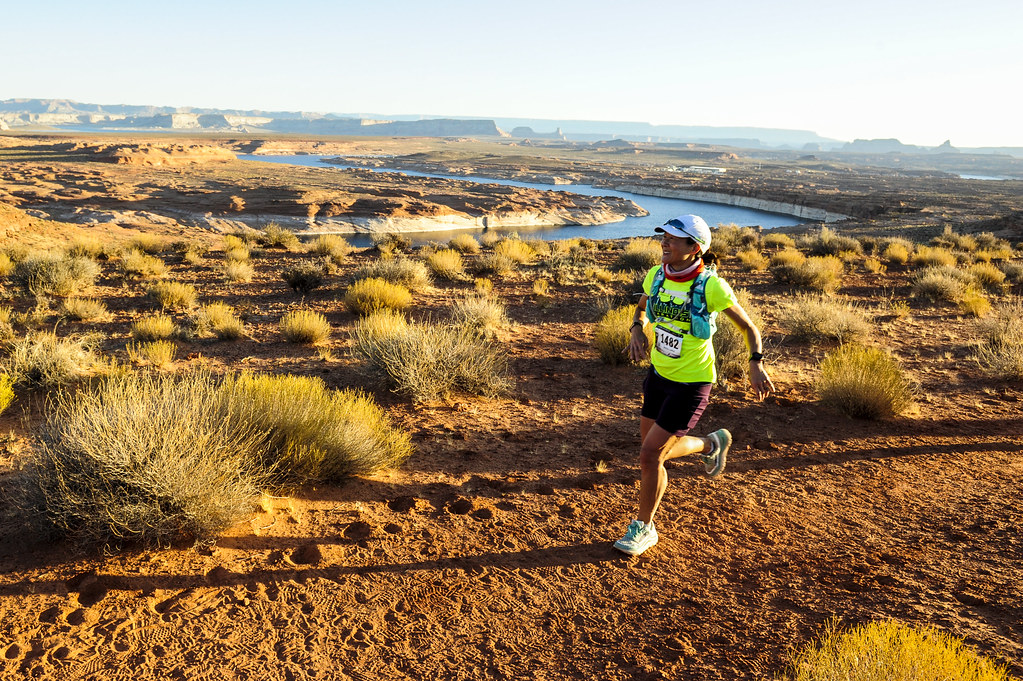 Running the Lake Powell Half Marathon, Photo by Lucid Images