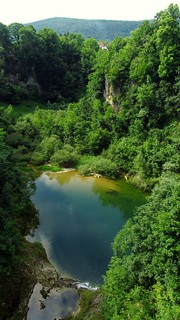 """Dulin ponor - The river Dobra disappears at """"Djulas Abyss"""" and flows underground for many kilometres"""