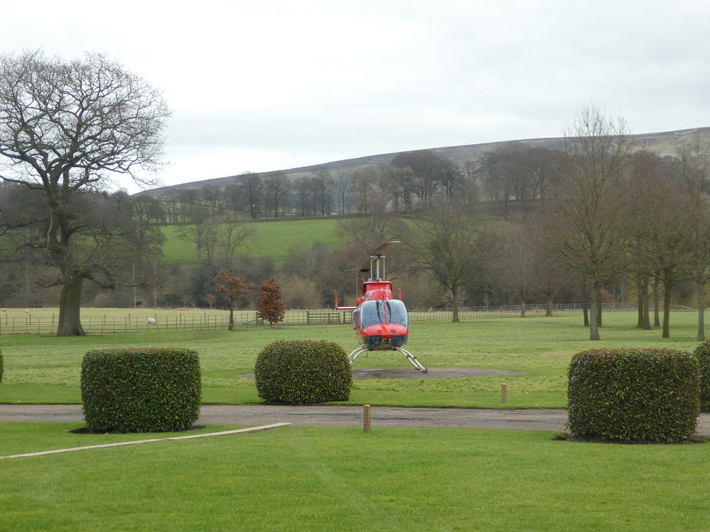 Devonshire Arms Hotel, Bolton Abbey helicopter service