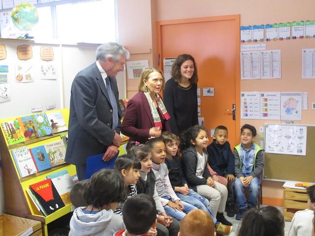 Préparation du dédoublement des CP à la rentrée 2018: déplacement de la rectrice et de l'Ia-Dasen dans deux écoles de la Loire