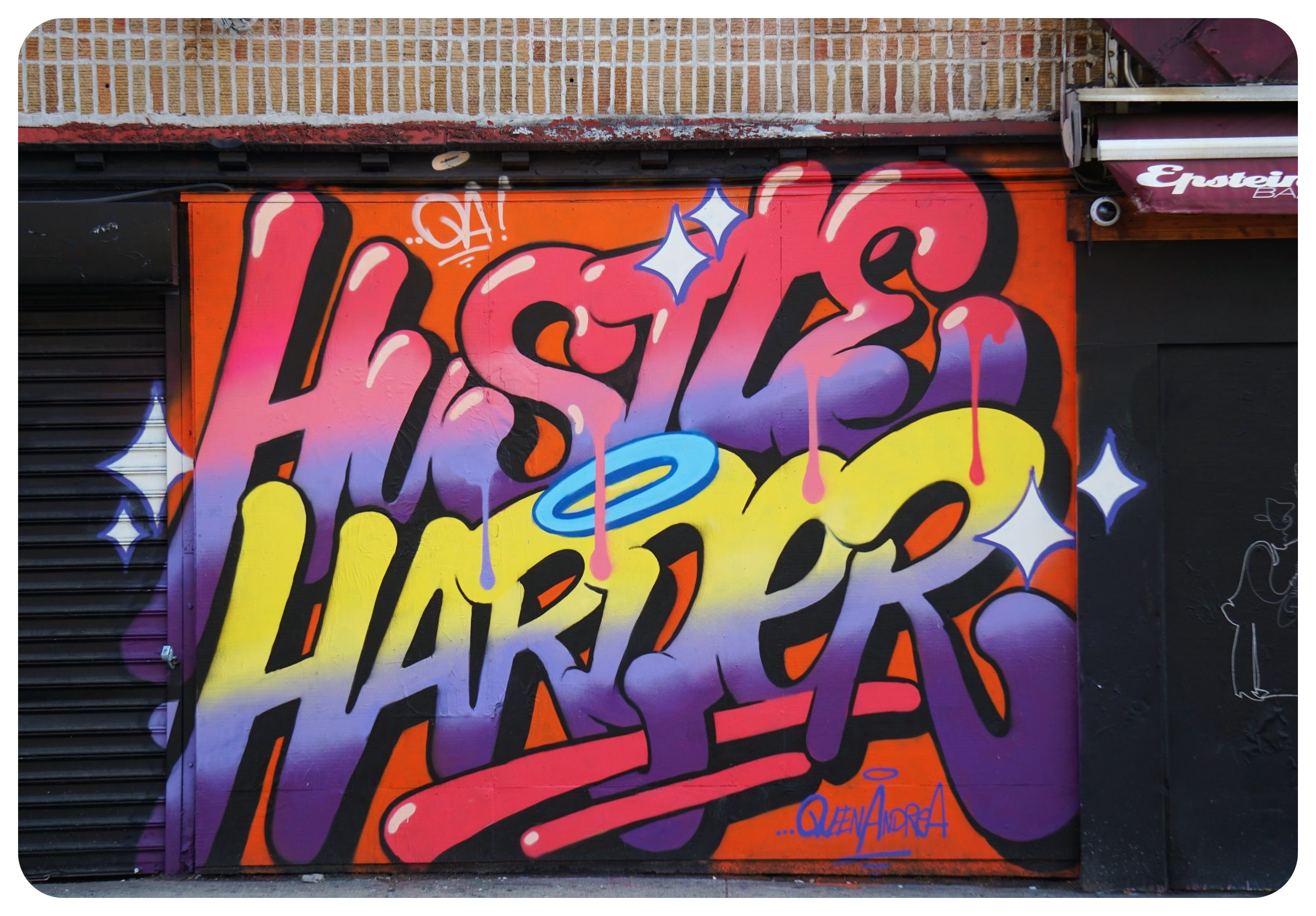 hustle harder street art
