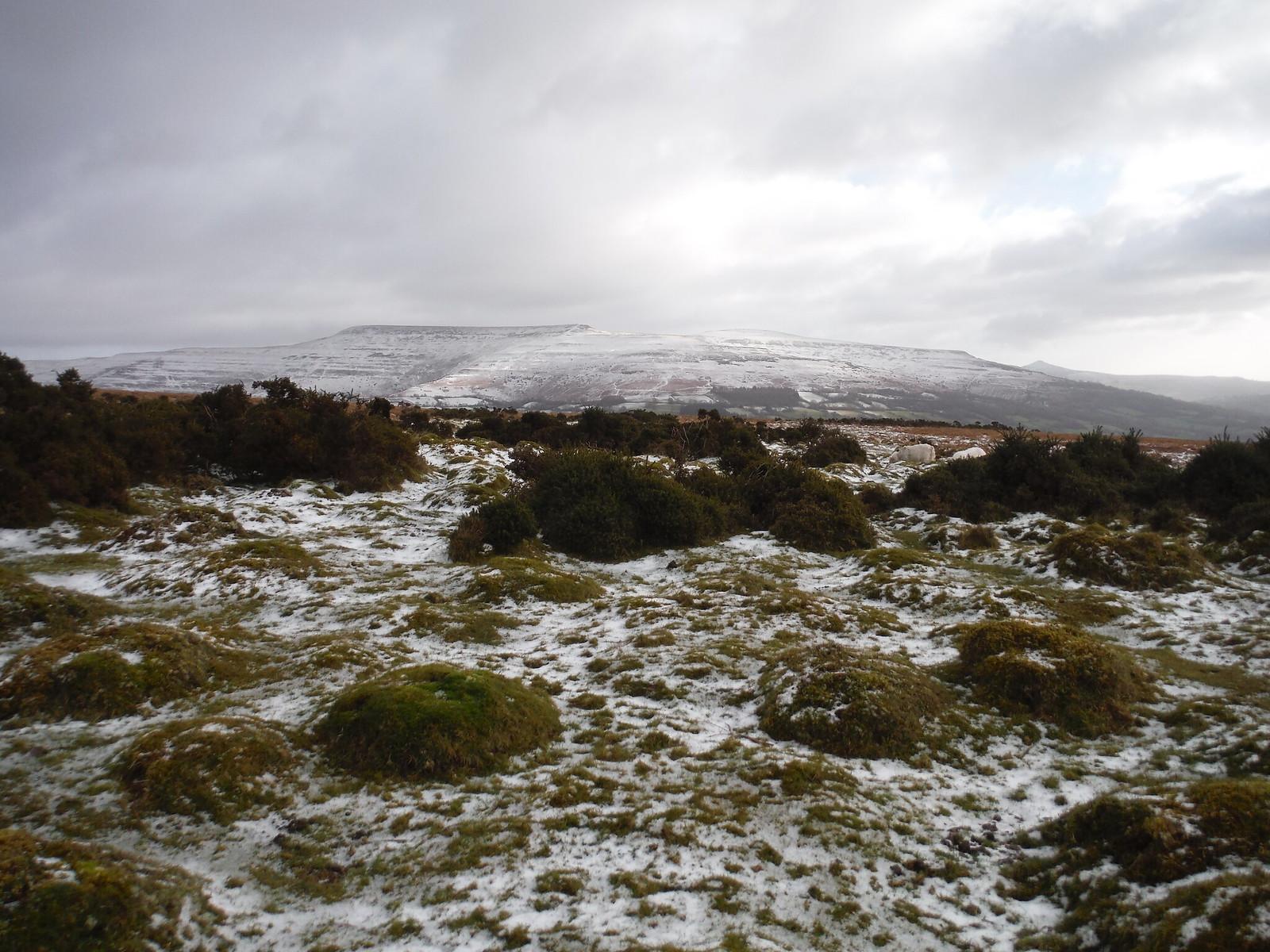 SW end of The Black Mountains: Sugarloaf, Pen Cerrig-calch to Pen Allt-mawr, across Rhiangoll Valley SWC Walk 308 - Bwlch Circular (via Mynydd Troed and Llangorse Lake)