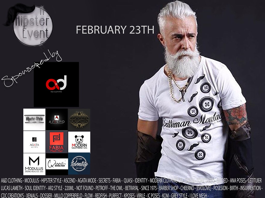Hipster Men Event FEBRUARY ROUND - TeleportHub.com Live!