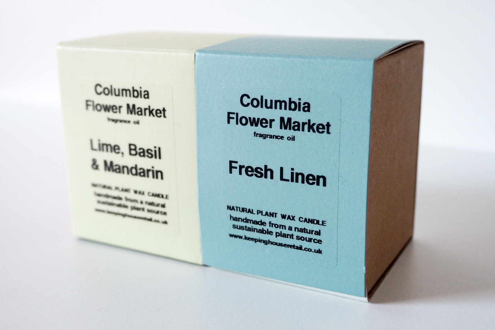 Columbia flower market candle